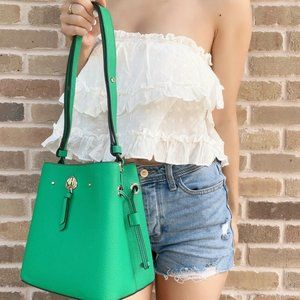 NWT Kate Spade Leather Small Bucket Shoulder Bag